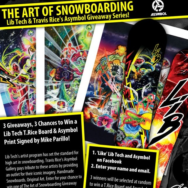 Image From January 2013 Giveaway – The Art of Snowboarding: Lib Tech and Travis Rice's Asymbol Giveaway Series!