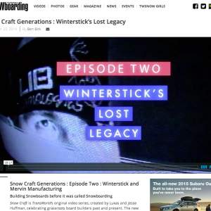 Image From Transworld Snowboarding: Snow Craft Generations – Episode 2: Winterstick & Mervin Manufacturing