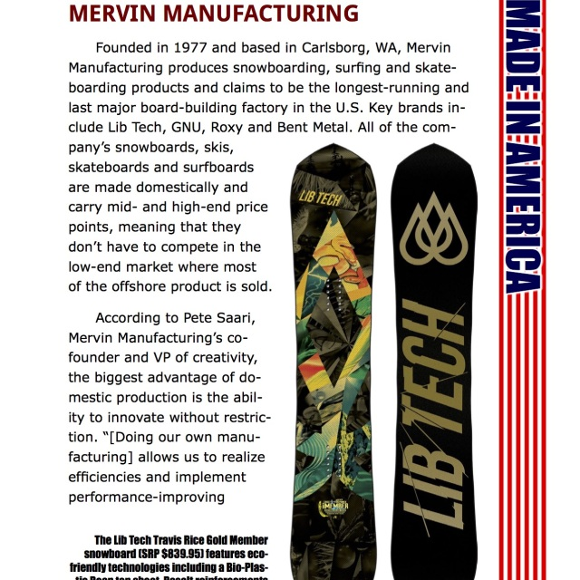 Image From SGI Weekly Intelligence Features Mervin Mfg.