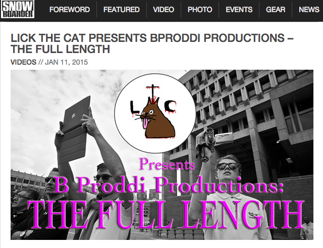 Image From B Proddi Productions: The Full Length – Presented by Lick The Cat