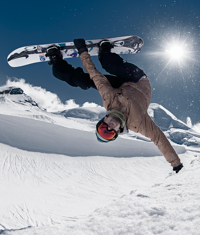 Nicolas Müller's first pro model snowboard! Photo by Luca Crivelli